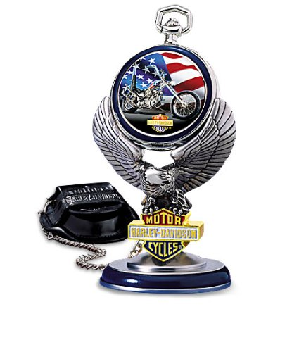 Franklin Mint Harley Davidson® Ultimate Chopper Pocket Watch w/Stand - Franklin Mint Model Cars