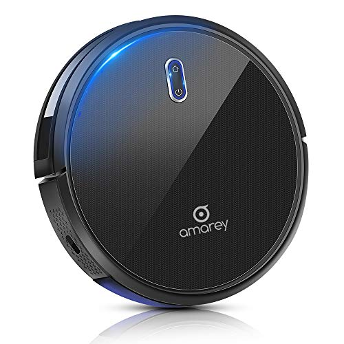 Robotic Vacuum Cleaner - Robot Vacuum, 100mins Long Lasting, Super Strong Suction, Self-Charging,Timing Function, 2.7inch Super Thin, 4 Cleaning Modes, Hard Floor Robot Vacuums for Pet Hair, Carpet