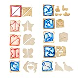 10PCS Fun Cookie Cake Sandwich Cutter Crust Cutters Bread Cutter Shapes for Kids-10 Cute Shapes