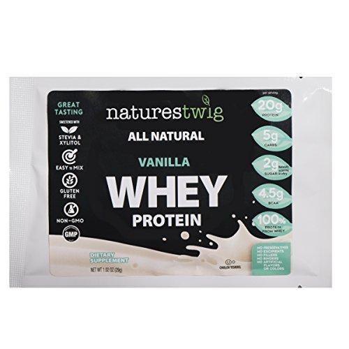 NaturesTwig All Natural Whey Protein (Kosher- Cholov Yisroel) Sample Pack (Vanilla)