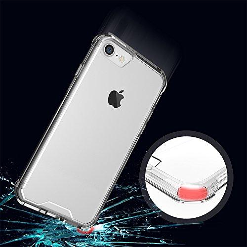 Meimeiwu Hohe Qualität TPU + Acrylic Bumper Crystal Clear Schutzhülle Protective für iPhone 7 - Transparent