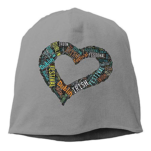 Dublin Fleece - LegendLife Unisex I Love Dublin Irish Festival Dublin,Ohio Knit Beanies Hat,Headwear for Women & Men DeepHeather