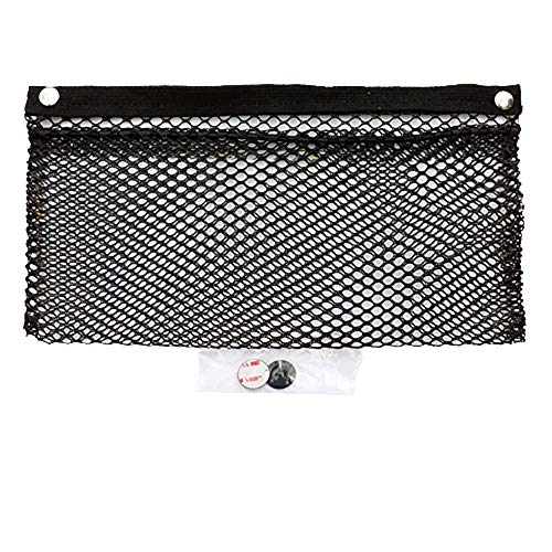 Mesh Net Pocket Mounts with Adhesive Snaps for Auto, RV, or Home Organization and Storage (8