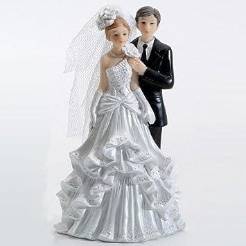 Brautpaar Ehepaar Hochzeitspaar Torte Tortenaufsatz 12cm Hochzeit