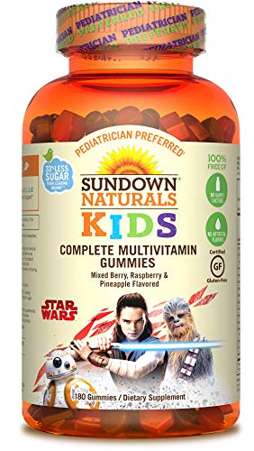 Sundown Naturals Kids Star Wars Complete Multivitamin, 180 Count