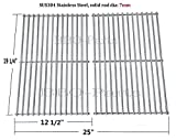 Hongso SCS612 BBQ Stainless Steel Wire Cooking Grid Replacement for Select Brinkmann, Charmglow and Turbo Gas Grill Models, Set of 2