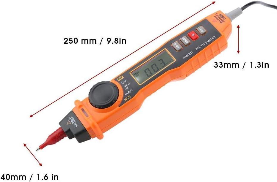 Walfront PEAKMETER PM8211 Pen Type No-contact Handheld Electric Digital AC//DC Voltage Current Resistance Tester Multi Meter Digital Multimeter
