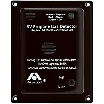 Atwood 31014 RV Propane Gas Detector-12V DC, Black