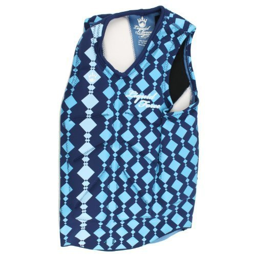 Liquid Force Women's Cardigan Comp Vest (Blue, X-Small) by Liquid Force