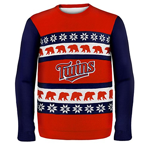 KLEW MLB Minnesota Twins One Too Many Ugly Sweater