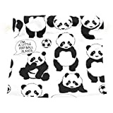 Dragon Sword I'm A Little Football Player Pandas Gift Bags Jewelry Drawstring Pouches for Wedding Party, 5.5x5.5 Inch