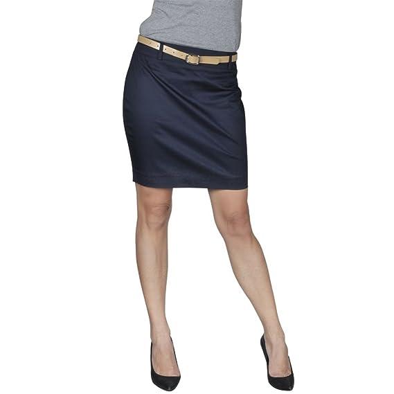 84dd4c14d vidaXL Mini Falda con cinturón, Talla 40, Azul Marino: Amazon.es ...