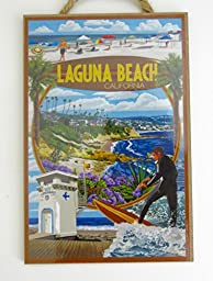Laguna Beach , California, Souvenir, Wall Decor, Wood Wall Plaque10\