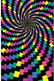 (24x36) Electric Rainbow (Spiral) Flocked Blacklight Poster Print