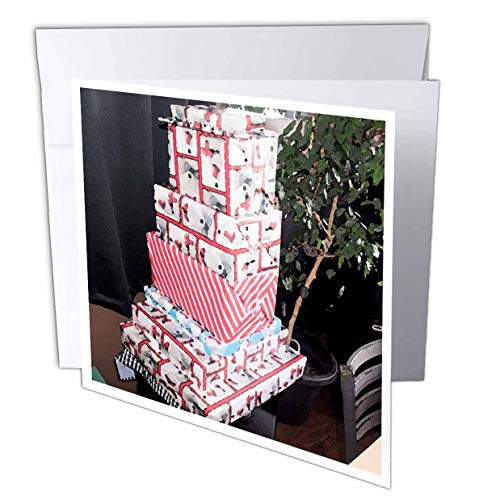 3dRose Jos Fauxtographee- Christmas Presents - Christmas Presents All Stacked up for The Holiday - 1 Greeting Card with Envelope (gc_307265_5)