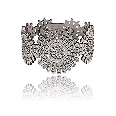 ZUOZUO Leather Wristband Vintage Handmade Crystal Bracelet Bracelet Jewelry Item Charm Bracelet Female Estimated Price £17.99 -