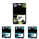 HP 564XL/564 High Yield Black and Standard Cyan/Magenta/Yellow Ink Cartridge Bundle