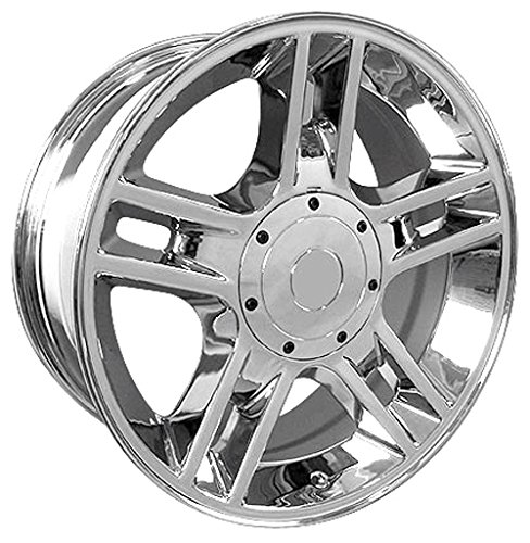 20x9 Wheels Fit Ford F-150 - Harley Style Chrome Rims, Hollander 3410 - SET