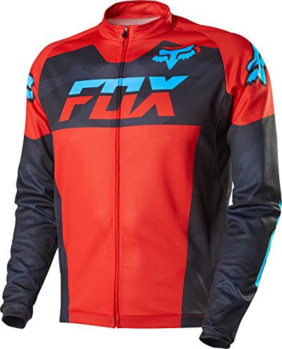 - Fox Head Men's Livewire Race Mako Long Sleeve Jersey, Black Camo, Large