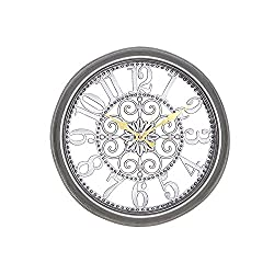 zhENfu The living room wall clock, Retro Clock, room wall clock, quartz clock creative, bedroom wall,gray