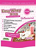 PINK SUN Easy Whey Xtra Goat and Sheep Whey Protein Concentrate Powder 420g (80% protein) - Unflavoured, Soy Free, Gluten Free, Pasture fed, Hormone free, Non GM