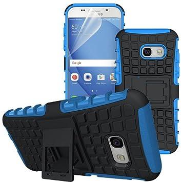 betterfon | Outdoor Handy Tasche Hybrid Case Schutz Hülle Panzer TPU Silikon Hard Cover Bumper für Samsung Galaxy A3 ( 2017 ) SM A320 Blau