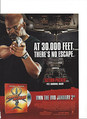 **PRINT AD** With Samuel L Jackson For Snakes On A Plane Movie Promo **PRINT AD**