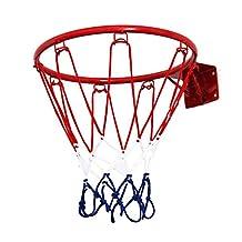 Pellor Indoor Mini Basketball Hoop Bracket for Office Game (Red) (Red, 150)