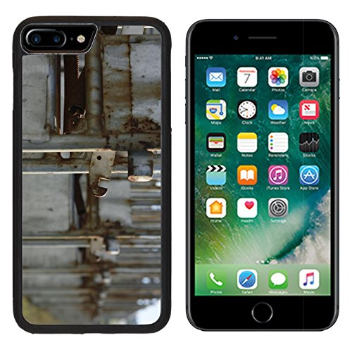 MSD Premium Apple iPhone 7 Plus Aluminum Backplate Bumper Snap Case IMAGE 22809828 Set of abandoned horse racing starting gates left in a paddock