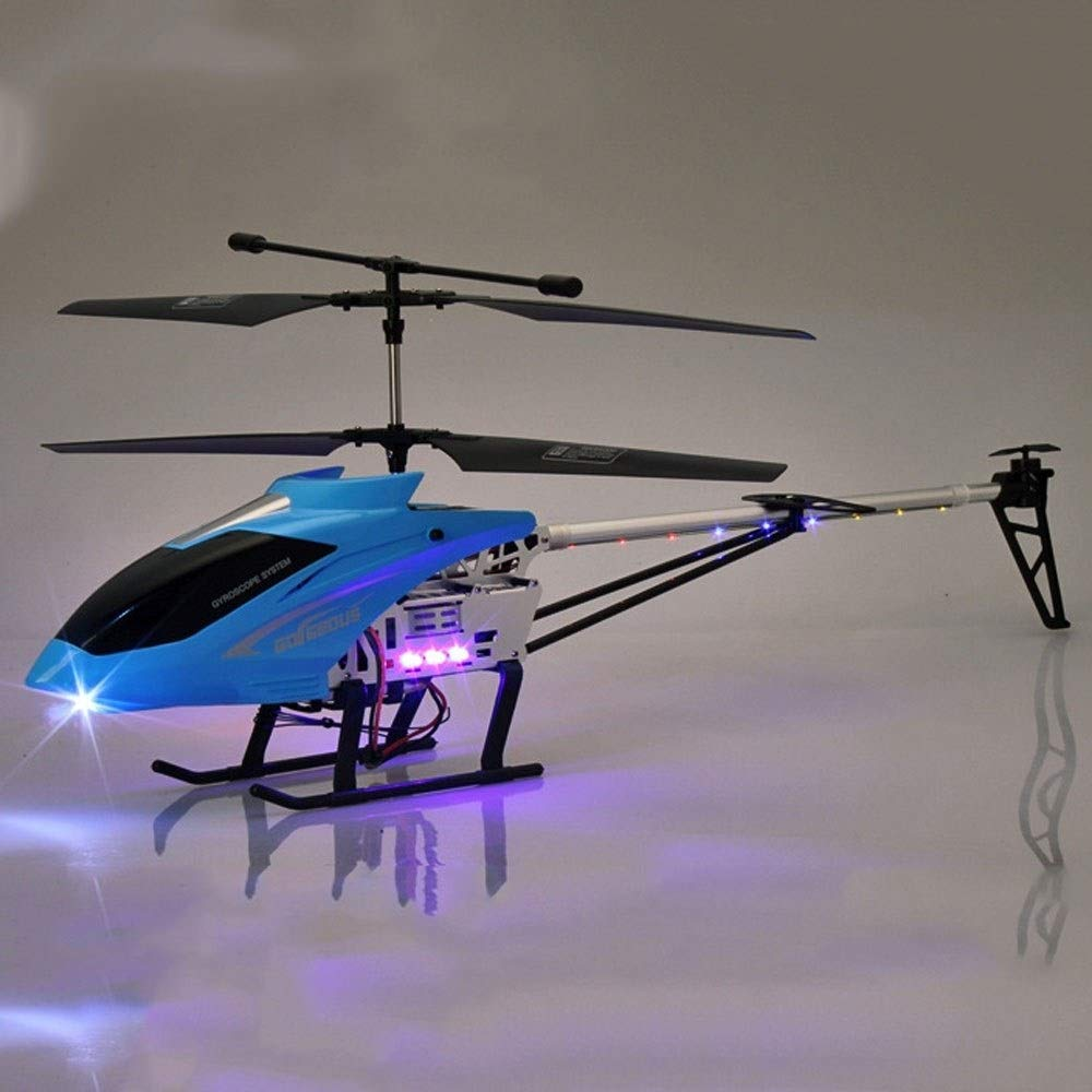 bluee Kikioo Big Size AntiCollision Flying Stable Resistance to Falling RC Helicopter Infrared Induction 2.4GHZ Remote Aircraft 3.5CH Gyro Drone Easy Learn Good Operation Boy Toy for Kids Adults (bluee)