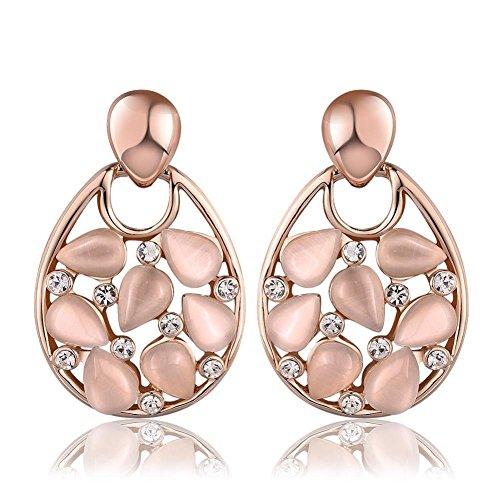 - Green Earrings Rose Gold Earrings Drops The Fancy Earrings Fashion Ladies Stud Earrings