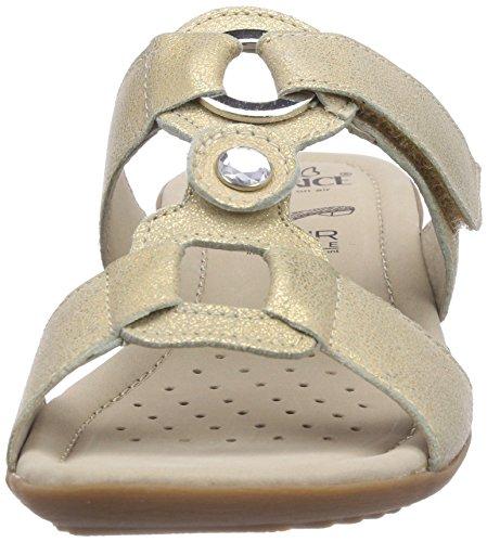 Caprice 27153 - sandalias abiertas de piel mujer dorado - Gold (GOLD/940)