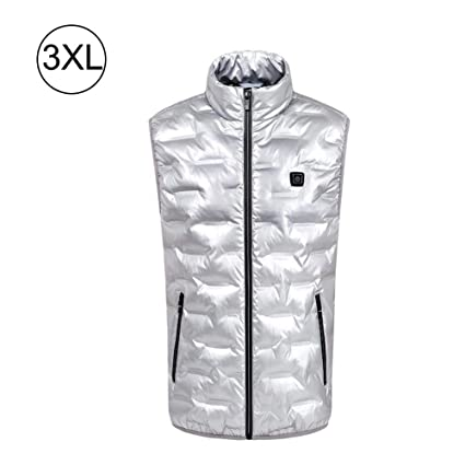 mujer chaleco térmico recargable carga usb chaqueta eléctrica calefacción ropa ajustable cálido de invierno lavable y