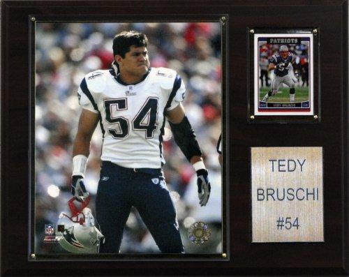 NFL Tedy Bruschi New England Patriots Player Plaque