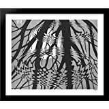 Rippled Surface 34x28 Large Black Wood Framed Print Art by M.C. Escher