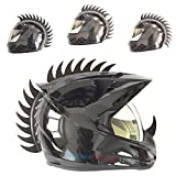 Black rubber sawblade warhawk/mohawk for any type of helmets. Warhawk can easily be cut to shorter lengths as needed to fit your helmet. Warhawk comes with detailed instructions for easy application. Very strong adhesive - tested at 200 mph. ...