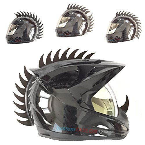 Customtaylor33 Warhawk Mohawk Rubber Saw Blade Helmet Accessory Piece  Helmet Not Included
