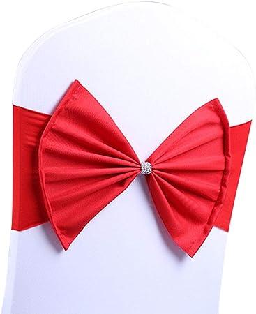 Qinlee Noeud Chaise Bowknot /écharpe de Chaise Housses de Chaise Bandes de Rubans n/œuds Sangles Fleur pour Mariage H/ôtel Banquet f/ête D/écor Rose