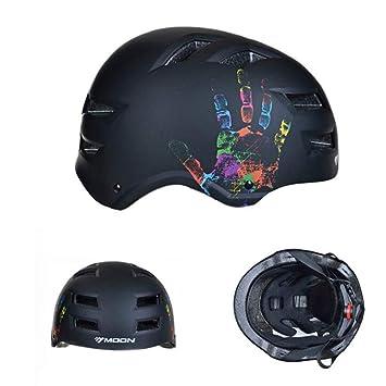 GW Casco Esqui Bicicleta Equitación Patines De Seguridad Unisex M L,Black,M