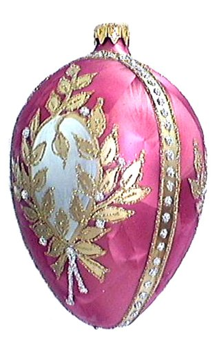 Museum Collection Fabergé Winter Palace Egg Glass Ornament-Large