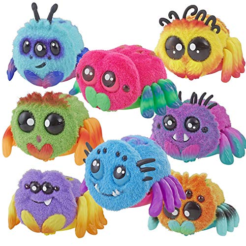 Spider Skadoodle, Sammie, FlufferPuff; Harry Scoots, Klutzers, Toofy Spooder, Bo Dangles and Peeks Voice-Activated Pet; Ages 5 and up - Set of 8