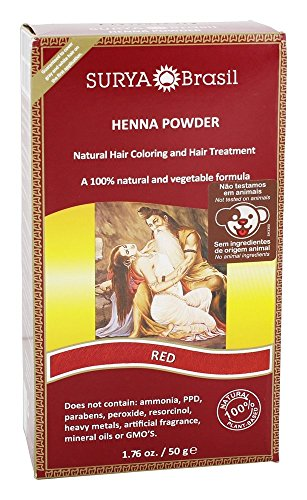 Price comparison product image Surya Brasil - 100% Natural and Vegetable Henna Powder Red - 1.76 oz.