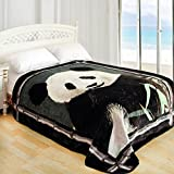 ShiGo Queen Heavy Weight Super Soft Luxury Queen size Blanket 79'X94'-Panda