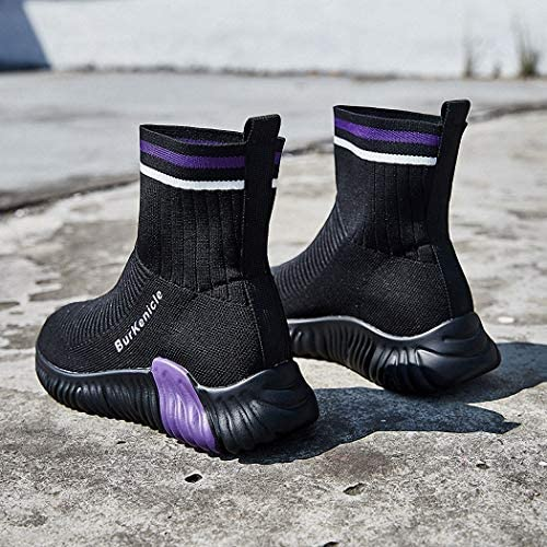 Lucdespo Ladies Casual Shoes High Boots Socks Elastic Shoes Short Boots Scarpe da Viaggio Running Shoes.Violet, 36
