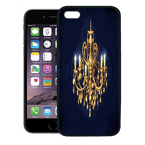 - Semtomn Phone Case for iPhone 8 Plus case,Gold Golden Chandelier in Dark Room Candles Crystal Furniture Black iPhone 7 Plus case Cover,Black