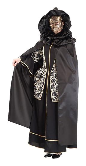 Carnival Toys - Capa veneciana de raso con capucha en bolsa, 130 cm, color