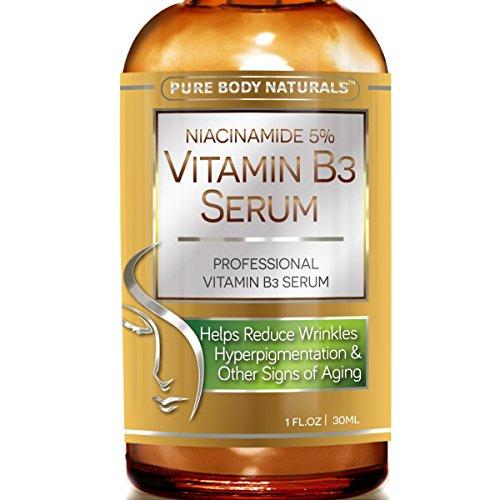 Niacinamide vitamine B3 crème sérum 5 % - 1 Oz - visiblement resserre les Pores, réduit les rides, stimule de collagène, une hydratation supérieure pour favoriser une peau visiblement plus jeune (1 paquet)