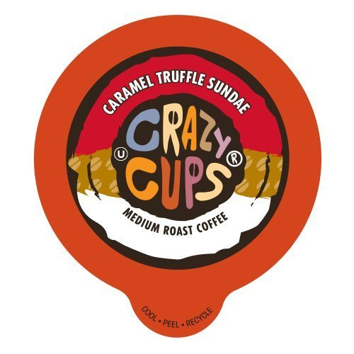 Crazy Cups Flavored Coffee, for the Keurig K Cups Coffee 2.0 Brewers, Caramel Truffle Sundae, 22 (Chocolate Caramel Flavored Coffee)