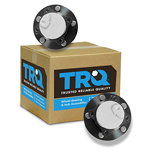 TRQ Wheel Bearing & Hub Assembly Rear Pair Set for Mazda 3 5 ABS