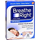Breath Rite Large Tan30 Size 30s Breathe Right Original Tan Nasal Strips, Large